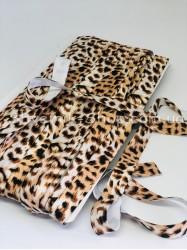 Бейка стрейч ширина 1,5 см Тигровая в упаковке 46 метров