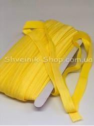 Бейка стрейч ширина 1,5 см (Блестяшая) цвет: Желтый бледный в упаковке 46 метров