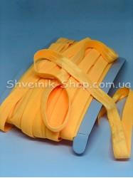 Бейка стрейч ширина 1,5 см (Блестяшая) цвет: Желтый (Желток) в упаковке 46 метров