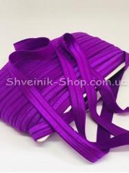 Бейка стрейч ширина 1,5 см (Блестяшая) цвет: Темно Фиолетовый в упаковке 46 метров