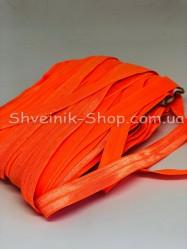 Бейка стрейч ширина 1,5 см (Блестяшая) цвет: Оранжевый Яркий в упаковке 46 метров