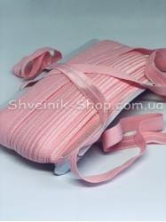 Бейка стрейч ширина 1,5 см (Блестяшая) цвет: Светло Розовый в упаковке 46 метров