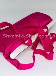 Бейка стрейч ширина 1,5 см (Блестяшая) цвет: Фуксия в упаковке 46 метров