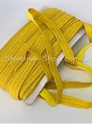 Бейка стрейч ширина 1,5 (Люрикс) цвет: Желтая+Золото в упаковке 46 метров