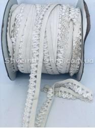 Резина зубчик ширина 1,5 см цвет : Светло Бежевый в упаковке 92 метра