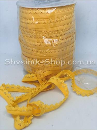 Резина зубчик ширина 1,5 см цвет : Желток в упаковке 92 метра