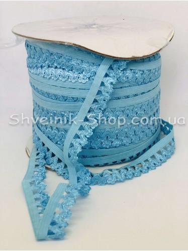 Резина зубчик ширина 1,5 см цвет : Голубой в упаковке 92 метра