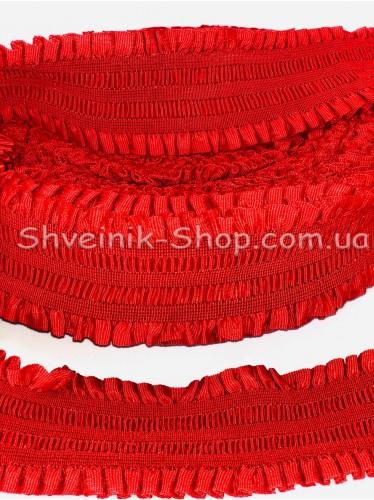 Резина ремни ( Гафре) ширина : 6см цвет Красный в упаковке 25метров