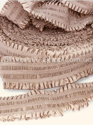 Резина ремни ( Гафре) ширина : 6см цвет Пудра в упаковке 25метров
