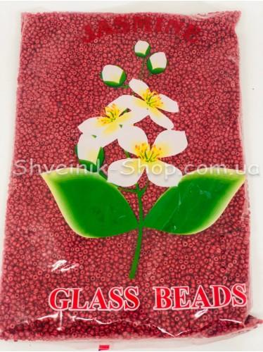 Бисер Матовый размер 12 Цвет Красный в упаковке 450 грамм
