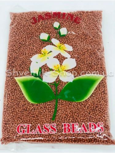 Бисер Матовый размер 12 Цвет Кирпич в упаковке 450 грамм