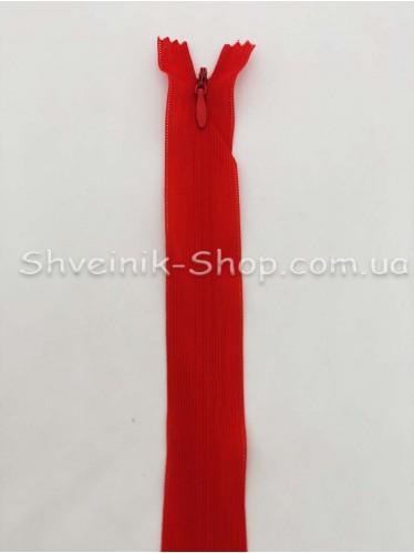 Змейка потайная 30см Цвет Красный в упаковке 100 штук