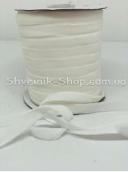 Велюр Бархат Размер 1 см Цвет : Белый  в упаковке 46 метров