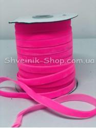 Велюр Бархат Размер 1 см Цвет : Ярко розовый в упаковке 46 метров