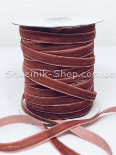 Велюр Бархат Размер 1 см Цвет : Красный в упаковке 46 метров