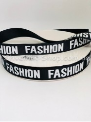 Репсовая Лента с рисунком Fashion Ширина 2 см Цвет: Черный в упаковке 92 м цена за упаковку
