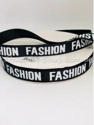 Репсовая Лента с рисунком Fashion Ширина 2,5 см Цвет: Черный в упаковке 92 м цена за упаковку