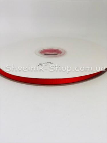 Репсовая Лента Ширина 0,6 см Цвет: Красный в упаковке 92м цена за упаковку