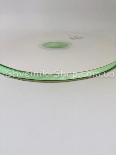 Репсовая Лента Ширина 0,6 см Цвет: Салатовый в упаковке 92м цена за упаковку