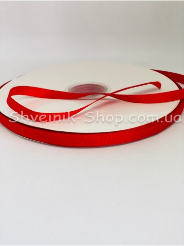Репсовая Лента Ширина 1 см Цвет: Красный в упаковке 92м цена за упаковку