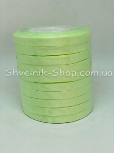 Репсовая Лента Ширина 1 см Цвет: Салатовый в упаковке 230м цена за упаковку