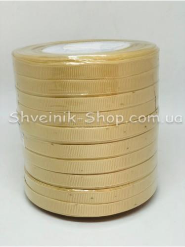 Репсовая Лента Ширина 1 см Цвет: Бежевый в упаковке 230м цена за упаковку