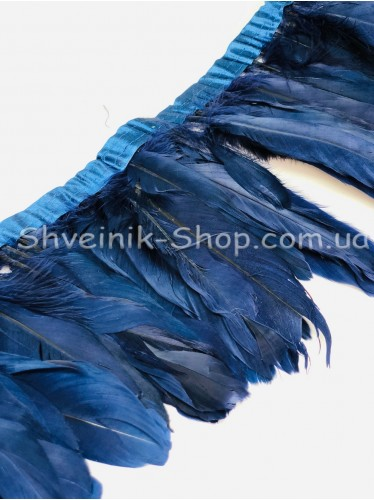 Перо на ленте цвет Темно синий Длина : 16 см в упаковке 2 м