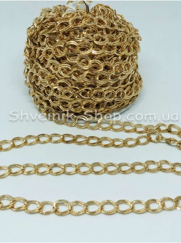 Цепь декоративная  Двойная Цвет Золото звено 1*0,8 см в упаковке 15 м