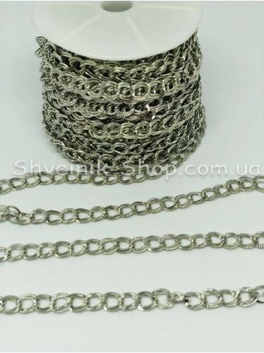 Цепь декоративная  Двойная Цвет Серебро звено 0,8*0,6 см в упаковке 15 м