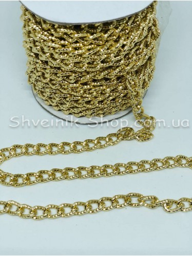Цепь декоративная Цвет Золото звено 1,3*0,8 см в упаковке 15 м