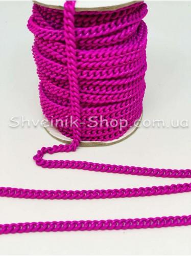 Цепь декоративная Звено :  6*5 мм  Цвет Малина  в упаковке 20 м