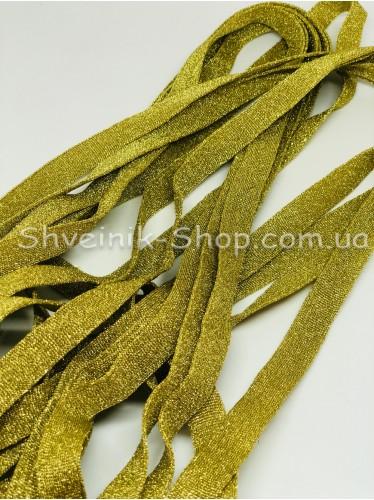 Лампас Люрекс  Размер : 1,5см Цвет : Золото в упаковке 64 метра