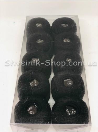 Нитка ирис (Для вышивания) ХБ цвет : Черный в упаковке 10 штук