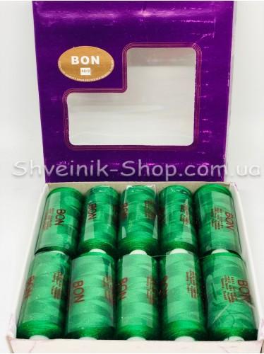 Нитка  №40 цвет Зеленая Трава  в упаковке 10 бабин 365 метров