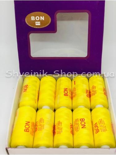 Нитка  №40 цвет Желтая в упаковке 10 бабин 365 метров