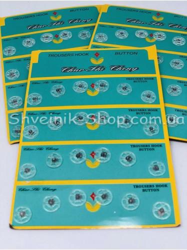 Кнопка Пришивная Пластиковая Размер 1,1 см Цвет Прозрачный в Упаковке 6 листов 144 кнопки