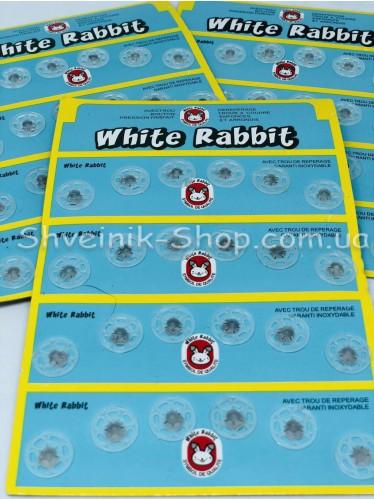 Кнопка Пришивная Пластиковая Размер 1,3 см Цвет Прозрачный в Упаковке 6 листов 144 кнопки
