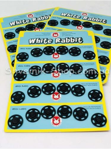 Кнопка Пришивная Пластиковая Размер 1,8 см Цвет Черный в Упаковке 6 листов 144 кнопки