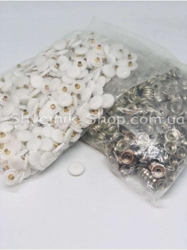 Кнопка Установачная С пласмасовой Шляпкой Размер 15 мм Цвет Белая в Упаковке 500 штук