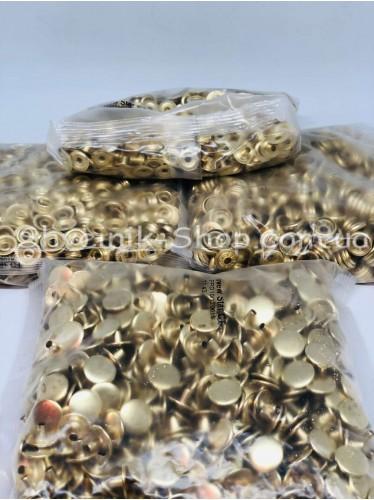 Кнопка Установачная  Размер 15 мм Цвет Золото в Упаковке 720 штук производство Турция