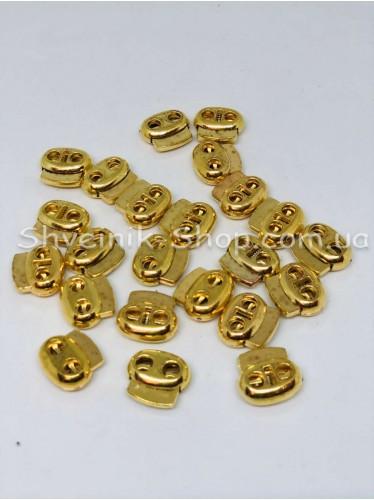 Фиксатор Овальный Две дырки (Пластиковый) Размер : 18мм с цвет : Золото Яркое в упаковке 500 штук