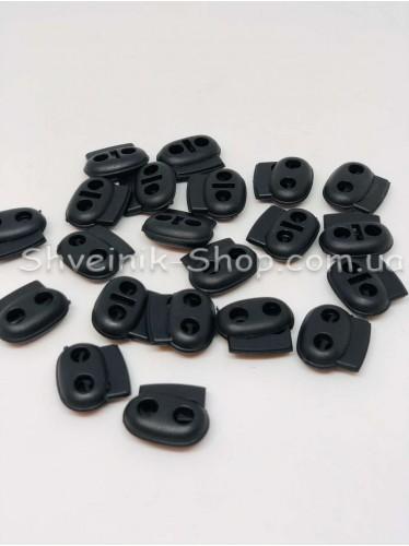 Фиксатор Овальный Две дырки (Пластиковый) Размер : 24мм  с цвет : Чёрный в упаковке 1000 штук