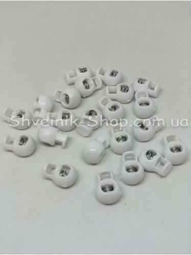 Фиксатор Круглый Одна дырка (Пластиковый) Размер : 12мм  с цвет : Белый в упаковке1000 штук