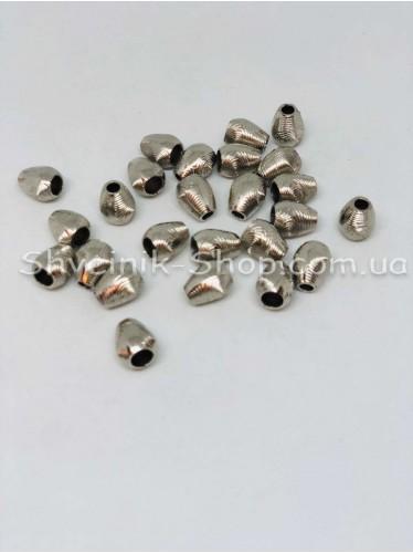 Наконечник (Пластиковый) Цвет Серебро Размер 13мм   диаметр 4мм в упаковке 500 штук
