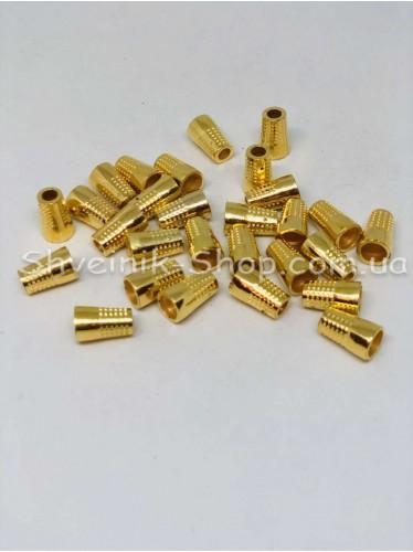 Наконечник (Пластиковый) Цвет Золото Размер 15мм   диаметр 5 мм в упаковке 500 штук