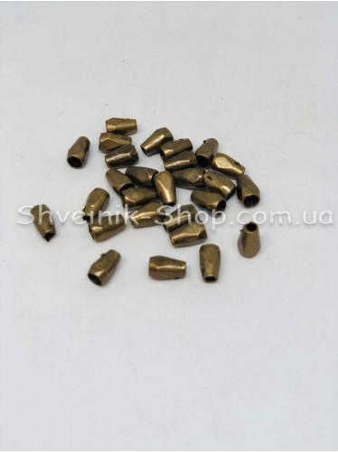 Наконечник (Пластиковый) Цвет Антик (Старое Золото ) Размер 10мм   диаметр 3 мм в упаковке 500 штук