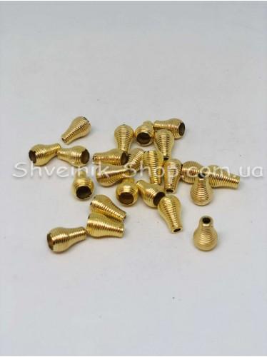 Наконечник Ажурный (Пластиковый) Цвет Золото  Размер 15мм   диаметр 3 мм в упаковке 500 штук