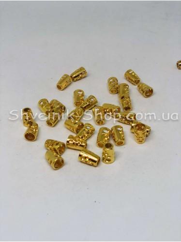 Наконечник Ажурный (Пластиковый) Цвет Золото Размер 14мм   диаметр 5 мм в упаковке 500 штук