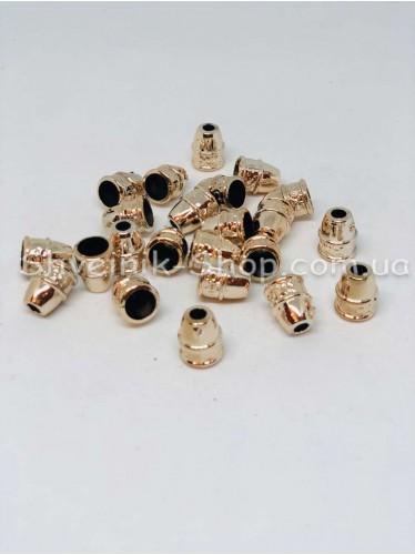 Наконечник Ажурный (Пластиковый) Цвет Золото Размер 15мм   диаметр 5 мм в упаковке 500 штук