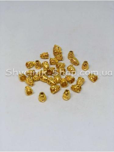 Наконечник Ажурный (Металлический ) Цвет Золото Размер 10мм   диаметр 2 мм в упаковке 500 штук